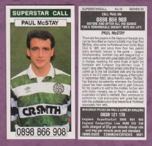 Glasgow Celtic Paul McStay Scotland 20